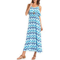 Ruffle Bust Challis Maxi Dress: Charlotte Russe
