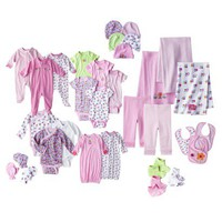Gerber® Newborn Girls' Flower Ultimate Layette Bundle 0-3M