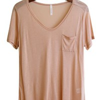 Flimsy Boyfriend Tee, Nude - Back in Stock