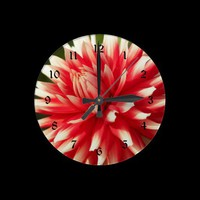 Bedazzling Beauty Floral Wall Clock from Zazzle.com