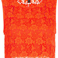Fluro Lace Crop Top