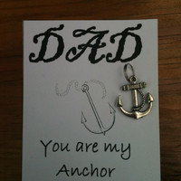 Father's Day You Are My Anchor Key Chain by SimplyEdgyDesigns