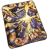 Doctor Who Exploding TARDIS Throw Blanket