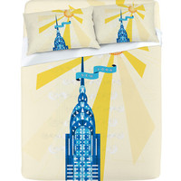 DENY Designs Home Accessories | Jennifer Hill New York City Chrysler Building Sheet Set