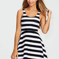 Bold Stripe Skater Dress