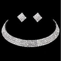[14.40] Stunning Rhinestones & Alloy  Necklace & Earrings For Your Fabulous Wedding Dress - Dressilyme.com