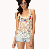 Floral Crocheted Top | FOREVER 21 - 2050931822