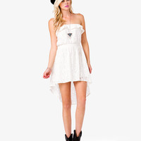 Floral Lace Strapless High-Low Dress | FOREVER21 - 2036752438