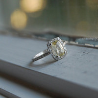 Unheated champagne yellow sapphire diamond ring by EidelPrecious