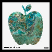 Blue Stone Apple Wall Decal from Zazzle.com