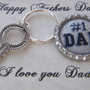Fathers Day Gift , Personalized Gift For Dad , Men's Key Chain