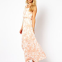 Vila Printed Maxi Dress at asos.com