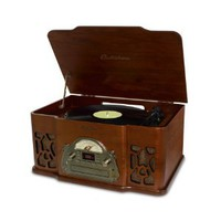 Amazon.com: Electrohome Wellington 4-In-1 Nostalgia Turntable Real Wood Stereo System with Record Player, USB Recording, MP3, CD & AM/FM Radio - EANOS502: Electronics