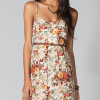 LOTTIE &amp; HOLLIE Belted Floral Bra Cup Dress