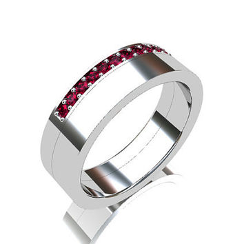 Ruby Ring Wedding Band Wedding Wide From TorkkeliJewellery On