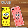 Spongebob face and patrick star face twin : Case For Iphone 4/4s,5