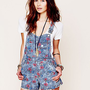 Free People Railroad Printed Overall