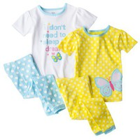 Just One You® by Carter's® Infant Toddler Girls' Tight Fit 4-Piece Pajama Set
