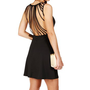 Black Cage Back Skater Dress