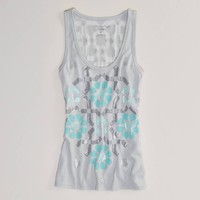 AE Metallic Floral Burnout Tank | American Eagle Outfitters