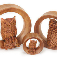 Owl 3D SABA Wood Tunnels — Plug Club