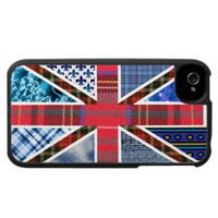 Union Jack Patchwork Pattern Iphone 4 Cases from Zazzle.com