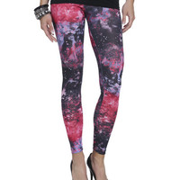 Pink Galaxy Pop Legging | Shop Galaxy at Wet Seal
