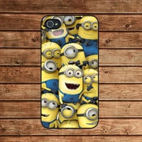 iphone 4 case,iphone 4s case,iphone 4 cover--Despicable Me Minion ,in plastic or silicone case