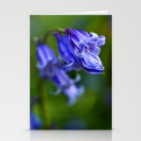 Bluebell Stem Stationery Cards by Alice Gosling