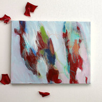 "Abstract Painting Expressionist Contemporary ""Chants in the Roses"""