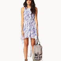 Watercolor Ikat High-Low Dress | FOREVER 21 - 2054079515