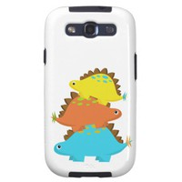 Stack of StegosaurusSamsung Galaxy S3 Case from Zazzle.com