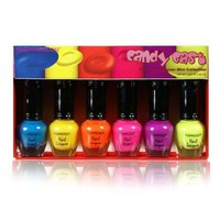 Kleancolor Neon Nail Lacquer - Candy Cast - Mini Collection (NPC593):Amazon:Beauty