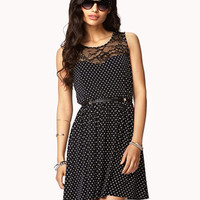 Polka Dot Lace Dress | FOREVER 21 - 2053716154
