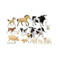 Farm Animal Set; 12 Piece Set; no. SF-280329:Amazon:Office Products