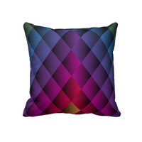 Pink, Purple, Blue, Green, Decorative Throw Pillow from Zazzle.com