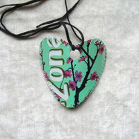 Original Arizona Tea HEART Necklace One of a Kind | creationsbyingrid - Earth Friendly on ArtFire