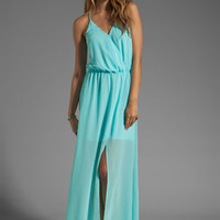 Rory Beca Hess Drape Gown in Ice from REVOLVEclothing.com