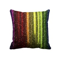 "Rainbow Colors Decorative Throw Pillow 20"" x 20"" from Zazzle.com"