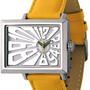 EOS New York Unisex 214SYEL Mad Hatter 2.5 Off Center Dial Watchin Yellow:Amazon:Watches