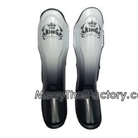 TOP KING Shin Guard Super Star - SILVER [TKSGSS-01-SV] - Low prices on thai boxing Shin Guards