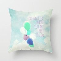 no matter where you are Throw Pillow by Sylvia Cook Photography