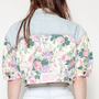 Floral denim jacket by Bongo and Contempo Casuals