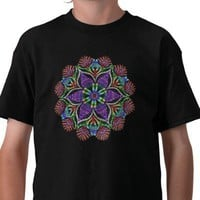 Rainbow Doily Mosaic Tshirt from Zazzle.com