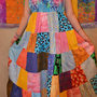 Summer Gypsy Patchwork Multi-Color Sundress