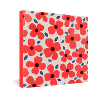DENY Designs Home Accessories | Garima Dhawan Dogwood Red Gallery Wrapped Canvas
