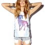 Rhinestoned Unicorn Muscle Tee