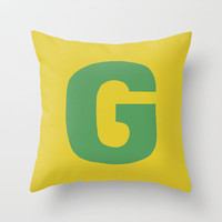G is for... Throw Pillow by Project M