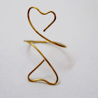 Love ring, Friendship, best friends, BFF, love ring - gold wire