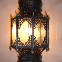 Rustic lamps at justmorocco
